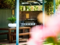 Beautiful pool and BBQ area at Coffs Harbour Holiday Apartments